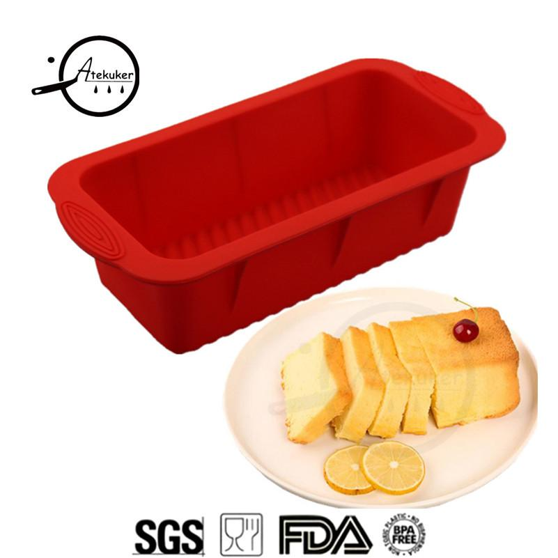 wholesale Rectangle Silicone Form Mold For Baking Cake Toast Bread Baking Forms Bakery Silicone Molds
