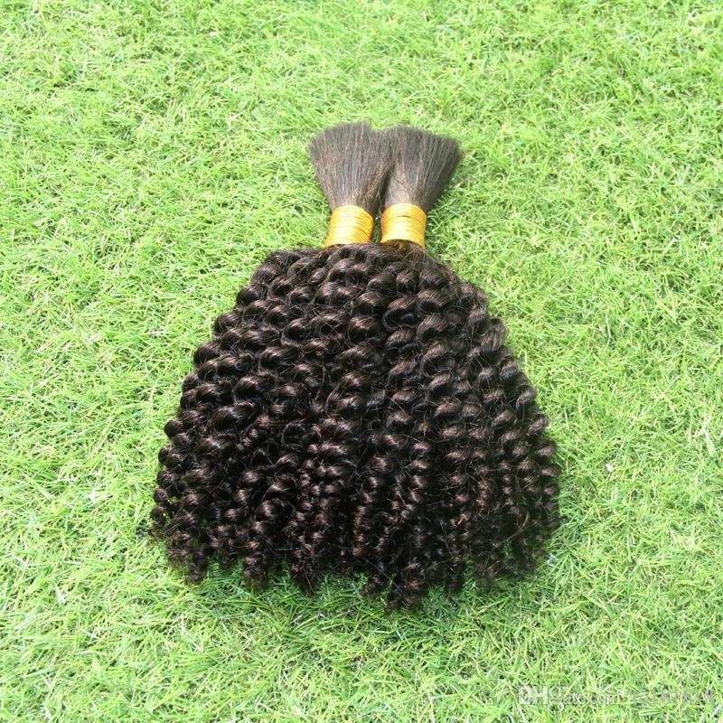 Örgü Saç Toplu Gevşek Saç 100g Insan Saç Örgü Toplu Hiçbir Ek Için 1 adet işlenmemiş brezilyalı gevşek kıvırcık