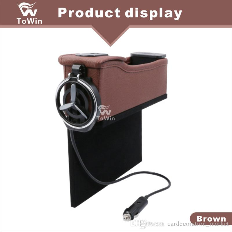 Multifunctional Dual USB interface Charger Car Interior Accessories Creative Design Car Organizer Cup Holder Durable Stowing Tidying Storage