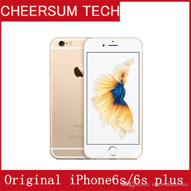 Refurbished Original Apple iPhone 6S/6s plus with Touch ID 4.7''5.5'' IOS 9 Dual Core 2GB RAM 16GB 64GB 128GB ROM 12MP Camera UNLOCKED phone