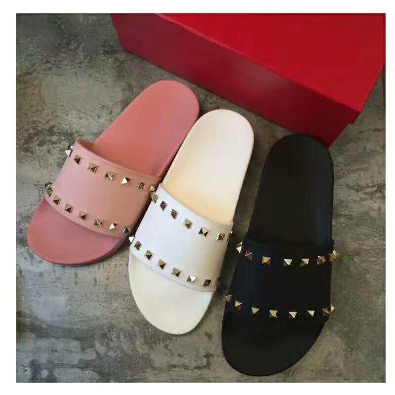 8031 Leadcat Fenty Rihanna Shoes Mujer Zapatillas de interior Sandalias de moda para mujer Rosa negro blanco gris Diapositivas de piel sin caja Alta calidad