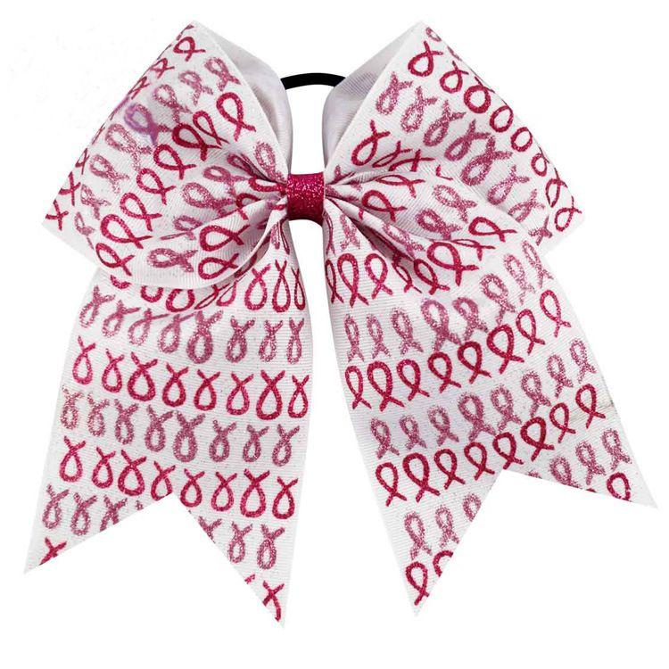 El 4 de julio Anima al arco Patriotic Glitter Elástico Lazos para el cabello Cheerleader Bow Con la cola de caballo para niña Cheerleader