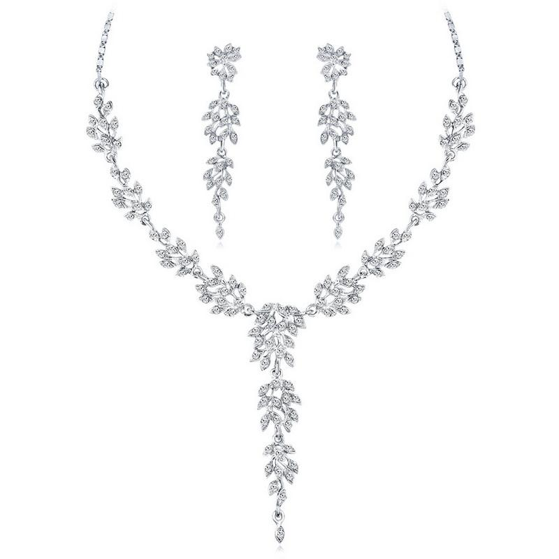 Новая мода Кристалл кулон ожерелье серьги комплект ювелирных изделий кулон аксессуары ювелирные изделия подарок для друга высокое качество свадебные украшения