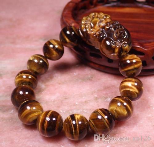 Природные Tiger глаз камень браслеты для мужчин и женщин модели Cat глаза тигр каменных браслетов для транспортной нечисти 10.12.14.16.18.mm