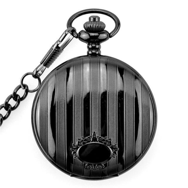 Antique Fashion Bronze Quartz Pocket Watch With Necklace Chain Pendant Best Gift For Women And Men