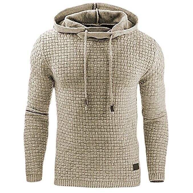Erkekler Hoodies Uzun Kollu Düz Renk Kapşonlu Sweatshirt Erkek Hoodie Eşofman Ter Coat Casual Spor M-4XL