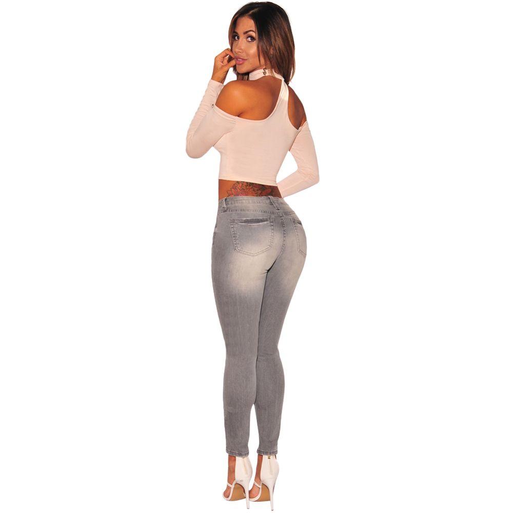 Pantalones vaqueros negros para mujer Pantalones vaqueros de cintura alta Mujer Elástico alto talla grande Pantalones vaqueros elásticos lavados 1158 #