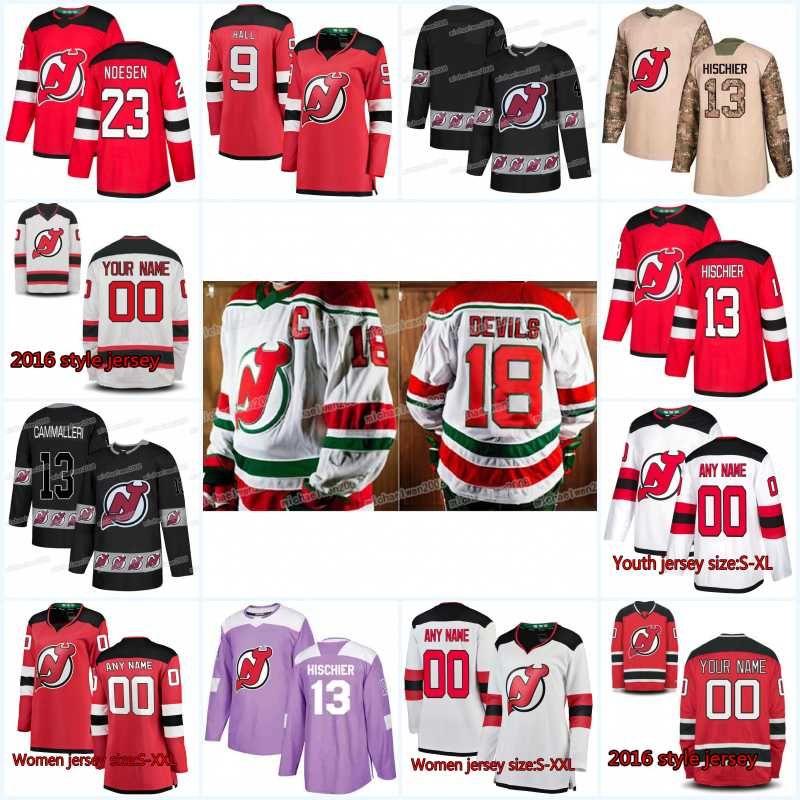 New Season New Jersey Devils Jersey 34 Eric Tangradi 44 Miles Wood 49 Joey Anderson 42 Nathan Bastian 39 Kurtis Gabriel Hockey Maglie
