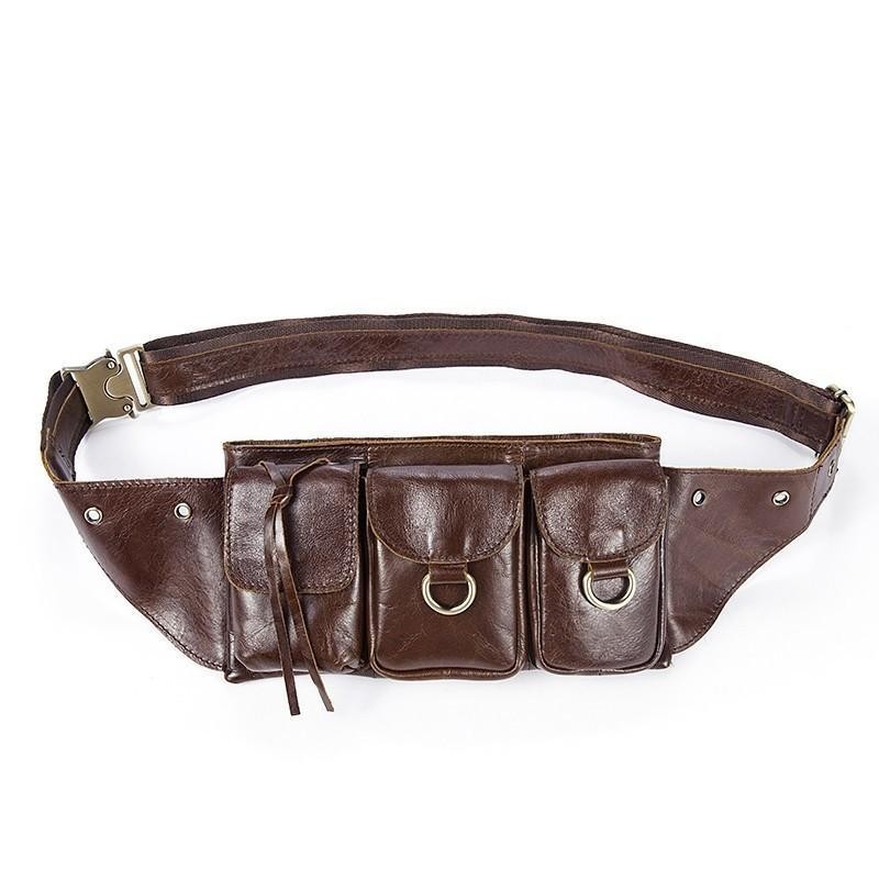 Para 2021 saco de cintura para carteiras de embreagem telefone peito de vaca pack perna homens homens fanny pacote bum saco sacos heupas couro lwtmu