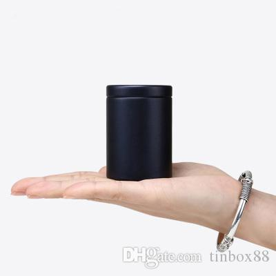 Nouvelle Arrivée Ronde Mini beau thé boîte en fer-vente à chaud scellé caddy bureau maison pilule de stockage en métal boîte 100 pcs / lot
