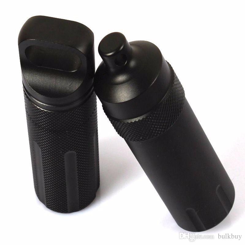 في الهواء الطلق السوبر قوية CNC ماء الطوارئ الإسعافات الأولية بقاء زجاجة حبوب منع الحمل التخييم EDC خزان مربع للسجائر مباريات