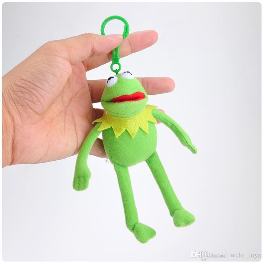 Kermit Plush Sesame Street Frog Stuffed Toys Keychain Cartoon Animal Kermit Bag Pendants Doll Kids Xmas Gift