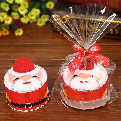 Festive Air Christmas Creative Cake Towel Gift Washcloth Dishcloth Xmas Cute Towel Presents For Kids Loved Best Friend