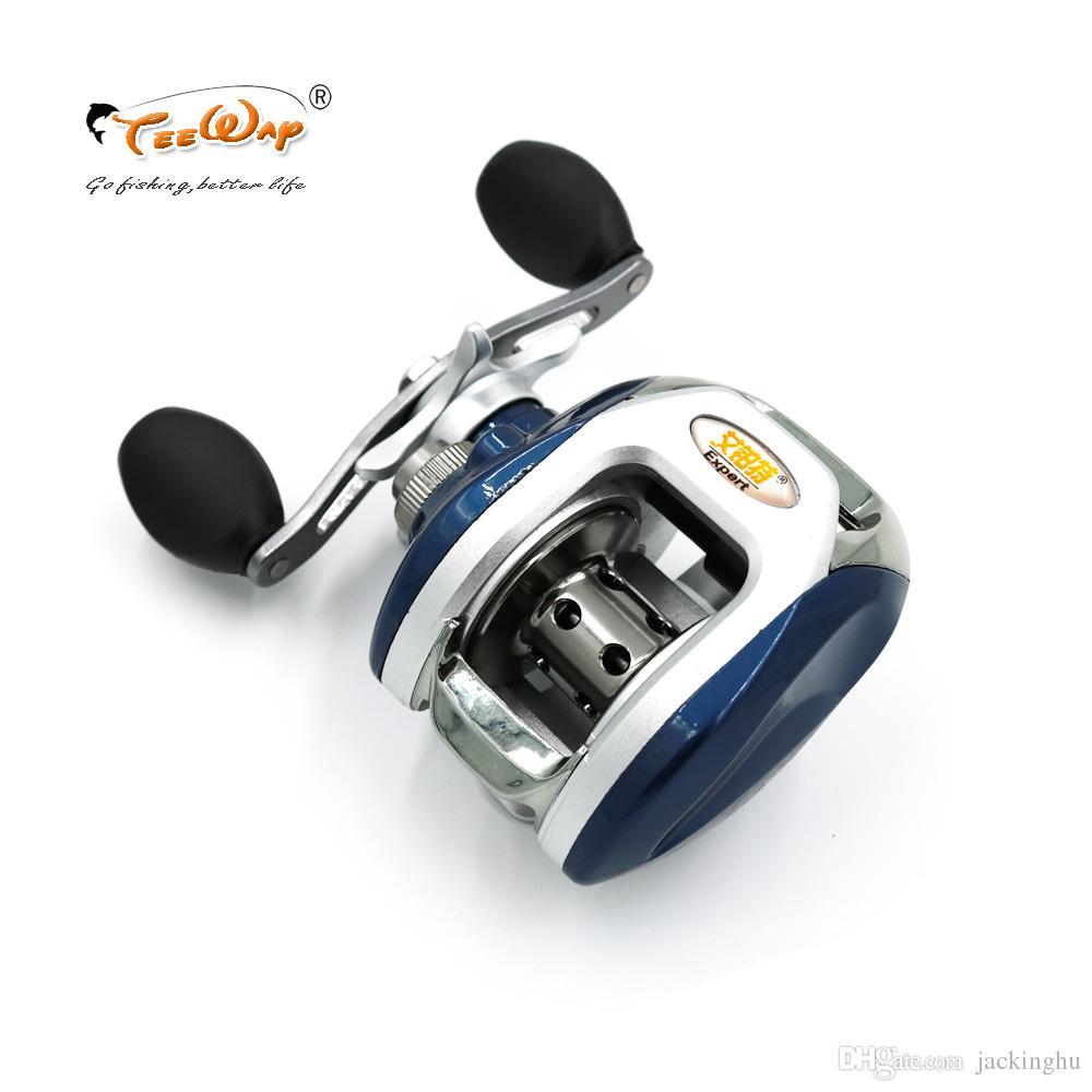 Carrete de pesca AF105L 8 + 1BB rodamientos de bolas mano izquierda Baitcasting carpa de alta velocidad Pesca 6.3: 1 carretes de pesca con mosca