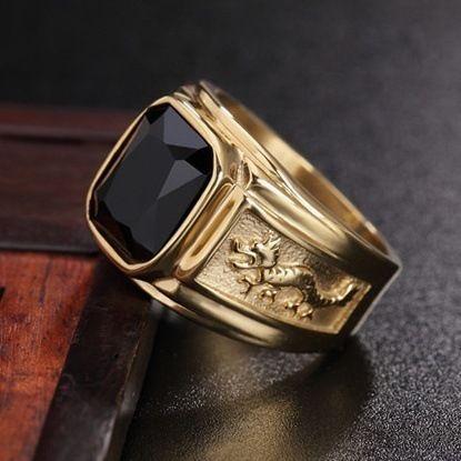 Il nuovo europeo con diamanti in oro 18 carati anello drago uomo prepotente