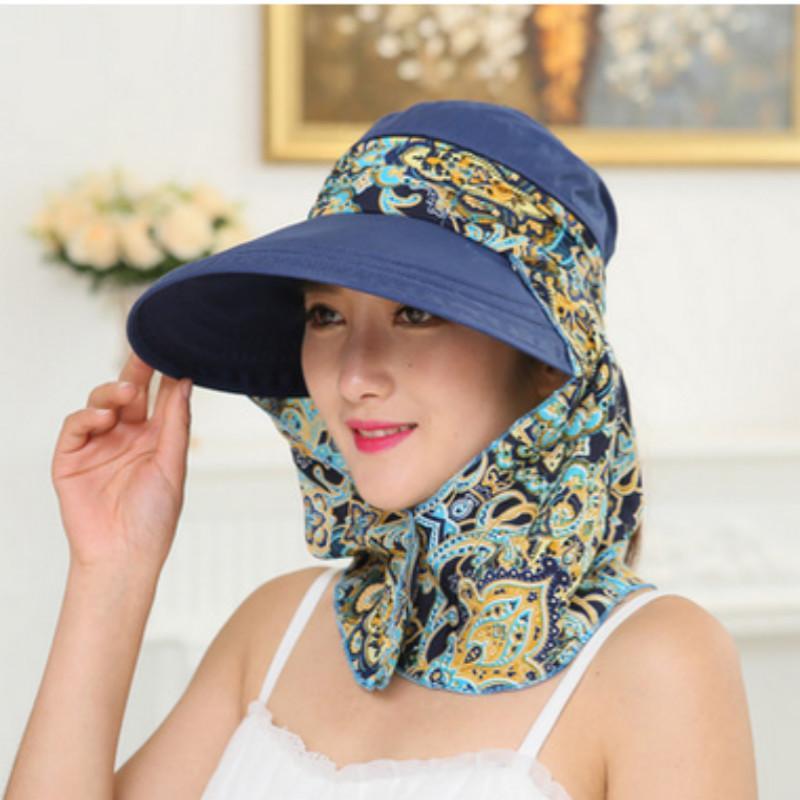 여성을위한 챙이 넓은 꽃 목 얼굴 보호용 해변 모자 이동식 여성 여성 모자 파나마 여성 sunbonnet을 팜므 chapeau 드레스