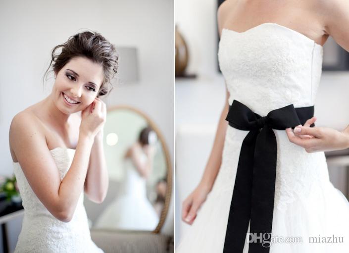Gelin düğün kemer kanat gelin kemer taklidi mücevherli elbise Yeni beyaz fildişi 9 Renkler saten kurdela kumaş kemer