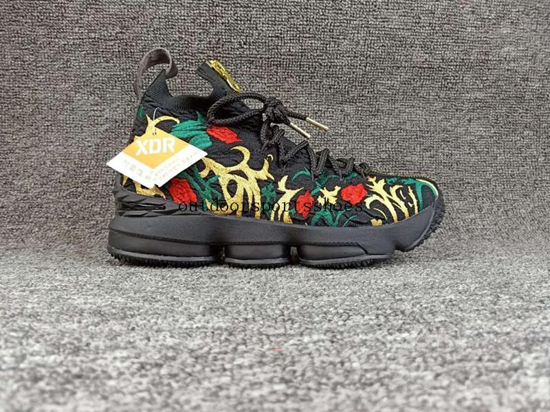 new photos 5efb0 49f56 2018 Stockx Lebron 15 Men Lbj 15 Lifestyle Kings Crown Floral White Black  Shoes Mens Basketball James Sneakers Us7 12 From Stockx45, &Price; | ...