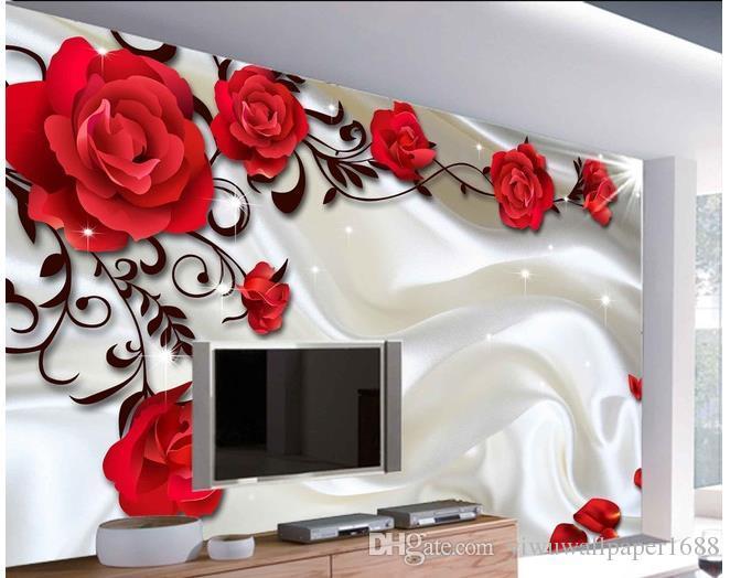 шелковые румяна розовый фон стены обои для стен 3 D для гостиной