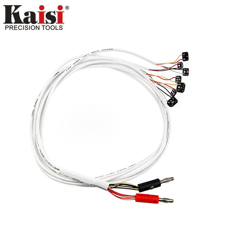 Genuine Kaisi Professional DC Power Supply Phone Current Test Cable for iPhone 5 5S SE 6 6S 6 Plus 7 plus repaia tools(color:white)