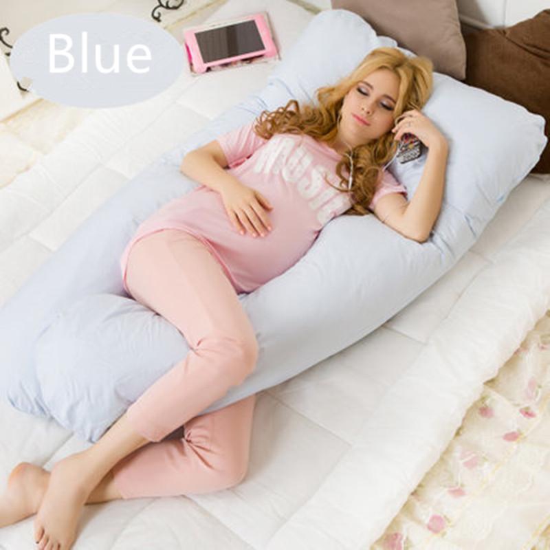 Forma de U travesseiros de Maternidade gravidez Confortável corpo gravidez travesseiro Mulheres grávidas Side Sleepers almofada 130 * 70 CM