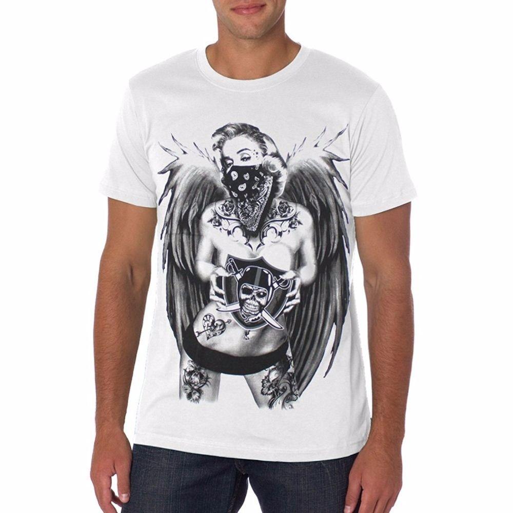 Moda erkek T-shirt Kısa Kollu Kaliforniya Cumhuriyeti Ayı Toptan İndirim Marilyn Erkekler Yaz Casual Gömlek