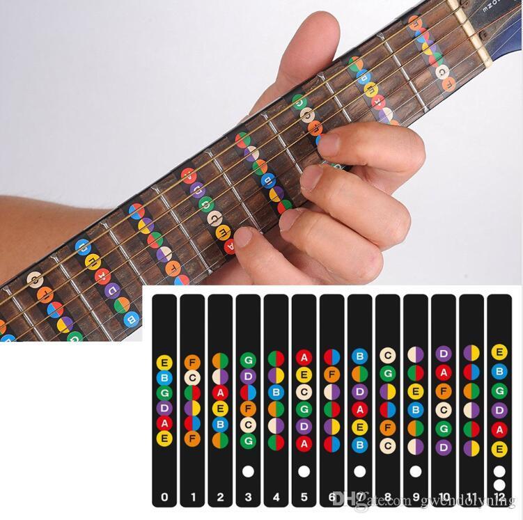Гитара гриф Примечания карта этикетки наклейка гриф Ладу наклейки для 6 строка акустическая электрическая гитара