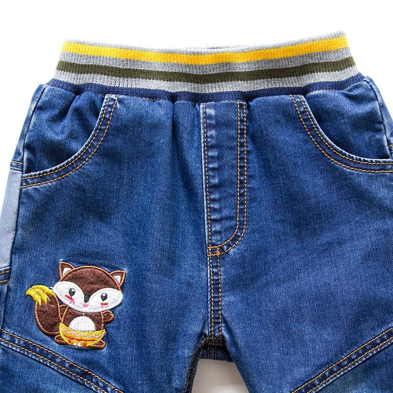 jeans invernali ispessiti per bambini di mioigee più caldi caldi vintage 3-7T nuovi pantaloni per bambini e bambine