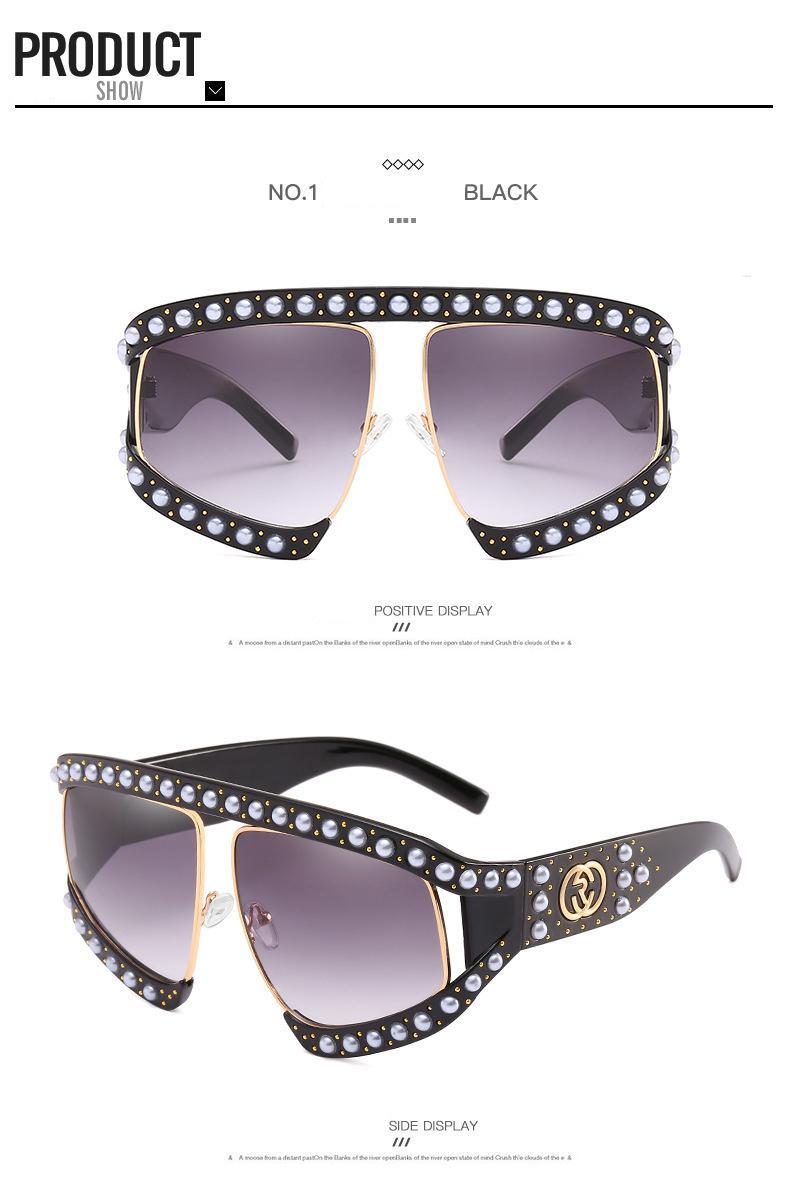 Großhandel Pearl Frame Übergroßen Italien Pilot Sonnenbrille Frauen ...
