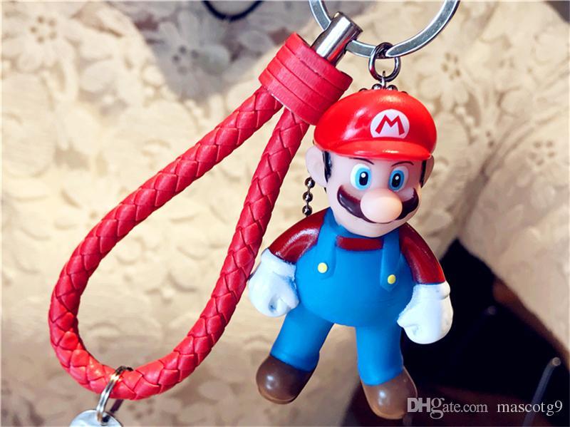 Mario regalo cosplay accesorios llavero animado de la historieta venta caliente personalidad unisex creativo llavero envío gratis