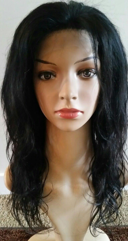 "Güzel el yapımı 16 ""Brezilyalı insan saçı peruk"