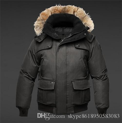 NEW! Hot Sale 2018 Top Copy Men's CARTL Bomber Heather Moss Winter Jacket Arctic Coat Down Parka Hoodie With Fur Sale Sweden