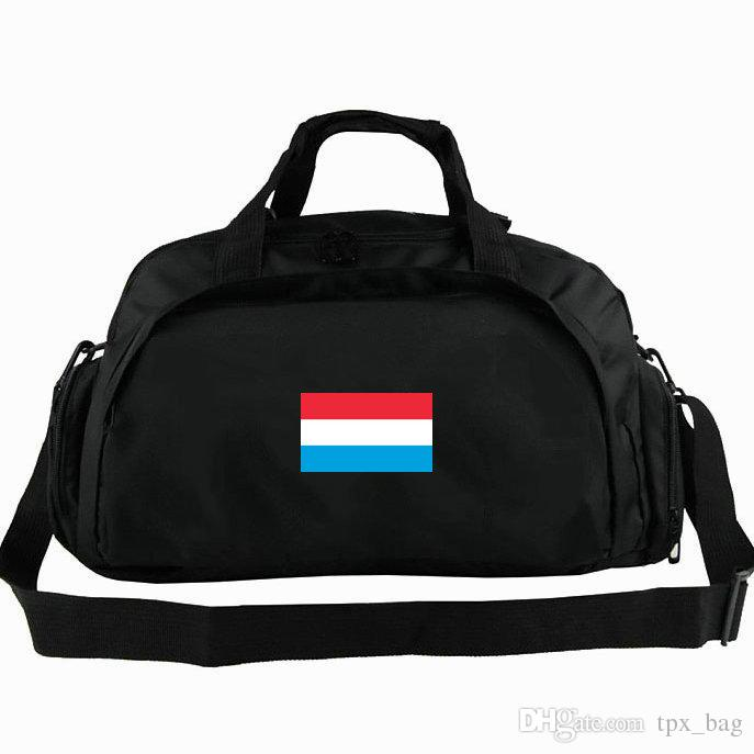 Luxembourg duffel bag The Grand Duchy flag tote Luxemburg 2 way use backpack National banner luggage Trip shoulder duffle Sport sling pack