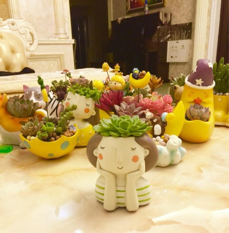 1pcs Small Flowerpot Creat Design Home Garden Mini Bonsai Cactus Planter Pots Succulent Plant Pot Wedding Birthday Gift Ideas free shipping buyer show