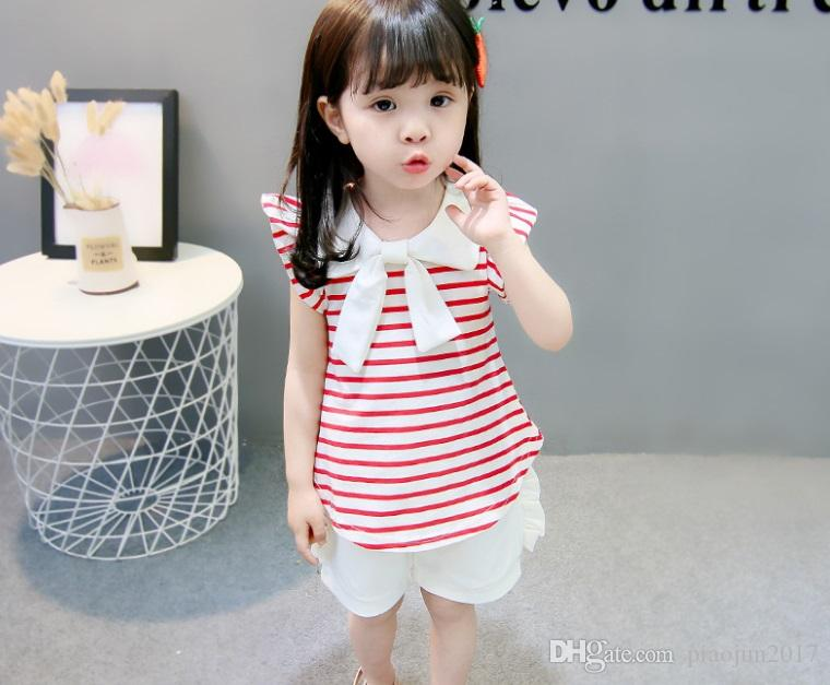 Toddler Kids Baby Girl Outfits Clothes Set Cotton T-shirt Vest Tops+Shorts Pants