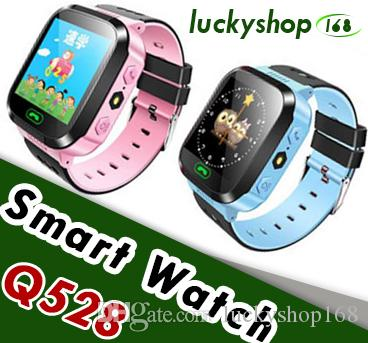 2018 New Q528 Kids Real GPS Tracker Watch Kids Smart Watch with Flash Light Touch Screen SOS Call Location Finder for Child DHL