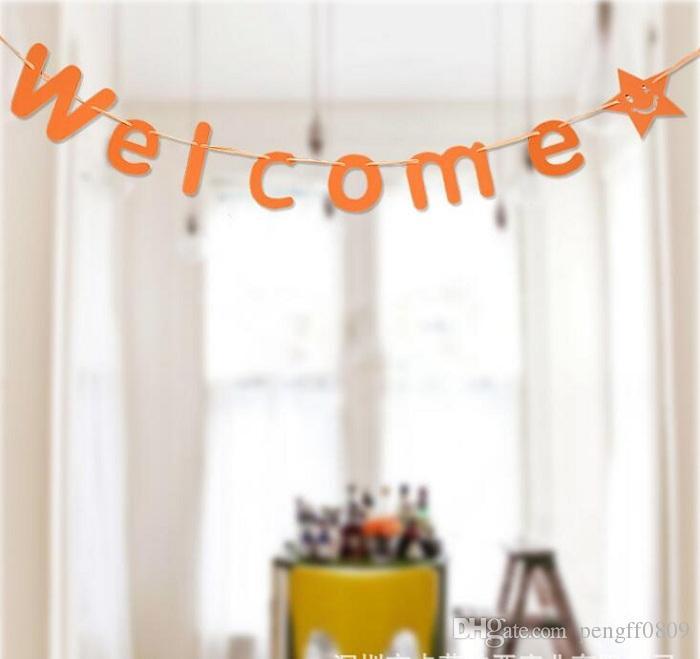 3-метровый Добро пожаловать бумаги Флаг Партии Белл Украшения гирлянды Баннер Бантинг на день рождения свадьба событие детский душ