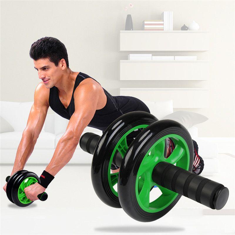 Mat İçin Egzersiz Fitnes Salonu Ekipmanları Aksesuar Spor Ekipmanları Spor Salonu ile Yeni Resim Gürültü Yeşil Karın Tekerlek Ab Merdane