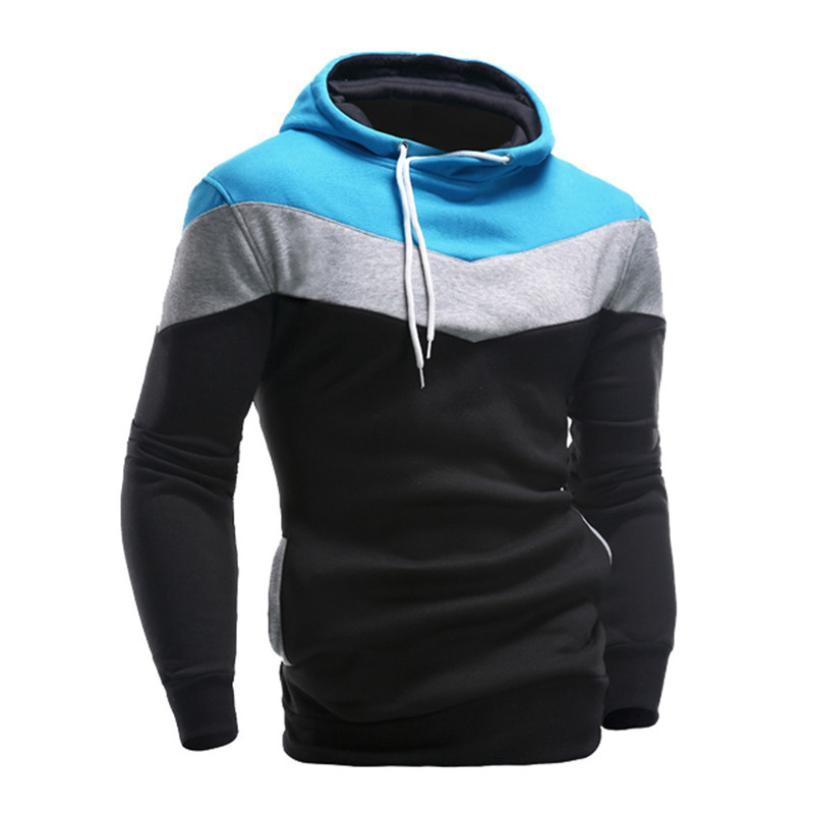 Fashion Mens Retro Long Sleeve Hoodie Hooded Sweatshirt Tops Jacket Coat Outwear