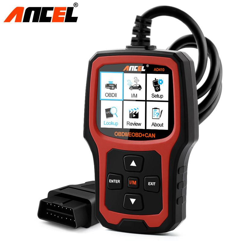 OBD2 Automotive Scanner AD410 Diagnostic Scanners with Russian OBD 2 OBD EOBD Erase Fault Error Code Readers Scan Tool