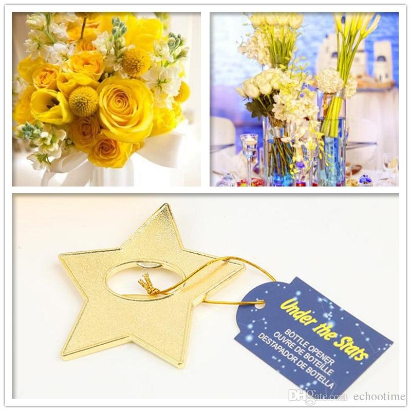 """Under The Star"" Gold Star Beer Bottle Opener Party Souvenir Wedding Favors Gift And Giveaways For Guests"