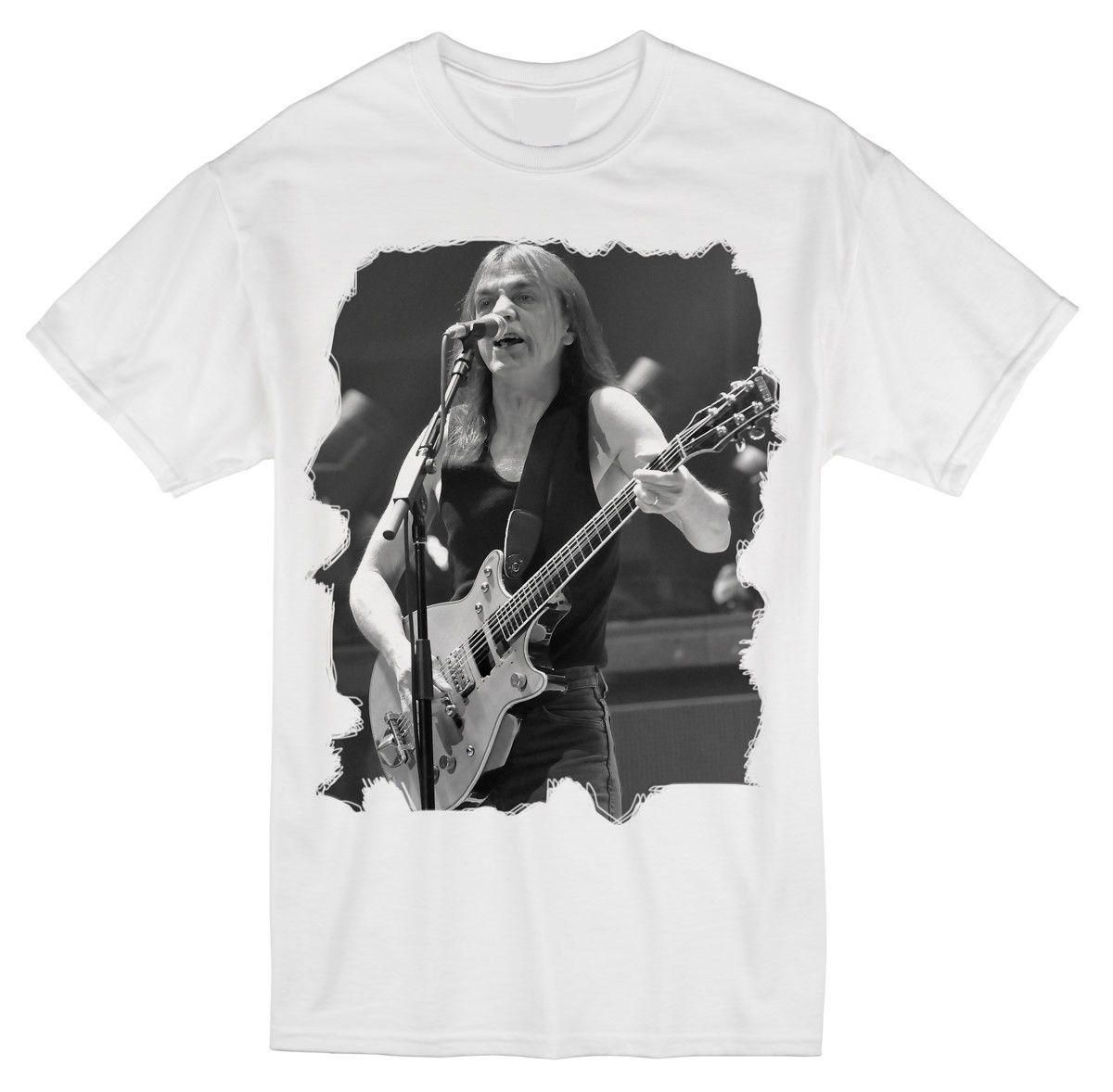 Música Masculina AC DC AC / DC T-Shirt Malcolm Young Tribute M234