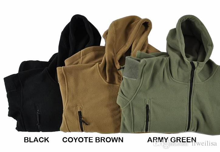 Active Hooded Tactical Outdoor Soft Shell Fleece Jacket Men Army Polartec Sportswear Thermal Hunt Hiking Sport Hoodie Jackets