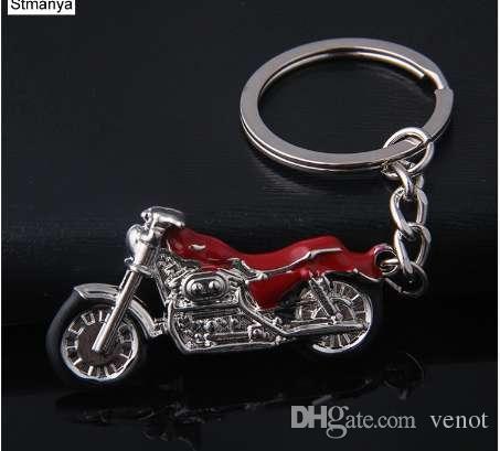 Nueva motocicleta llavero Charm llavero de metal hombres mujeres coche llavero 4 color titular de la llave mejor regalo joyería