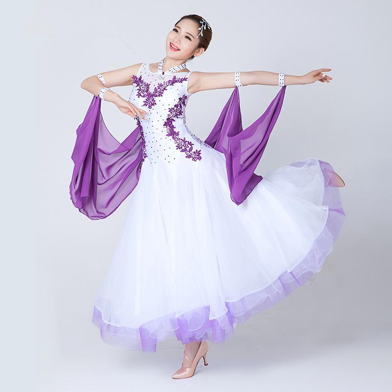 المرأة الحديثة قاعة الرقص المنافسة الفساتين مصممة للبالغين النساء القياسية الفالس الفالس السيدات الرقص زي