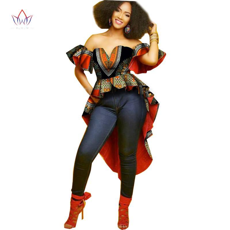 Vestido de verão Bazin Riche Vestidos Africanos Mulheres Vestidos de Festa Sem Mangas Plus Size Vestido Sexy Mulheres Roupas de Impressão Africana WY1384