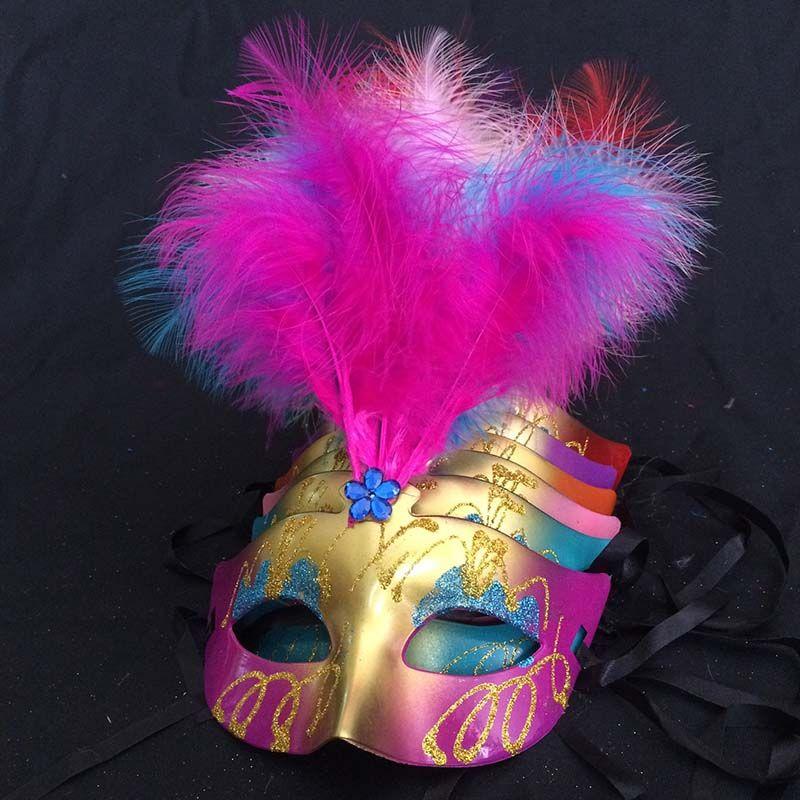 Fashion Mask feathers wedding party masks masquerade mask Venetian mask women Lady Sexy masks Carnival Mardi Gras Costume