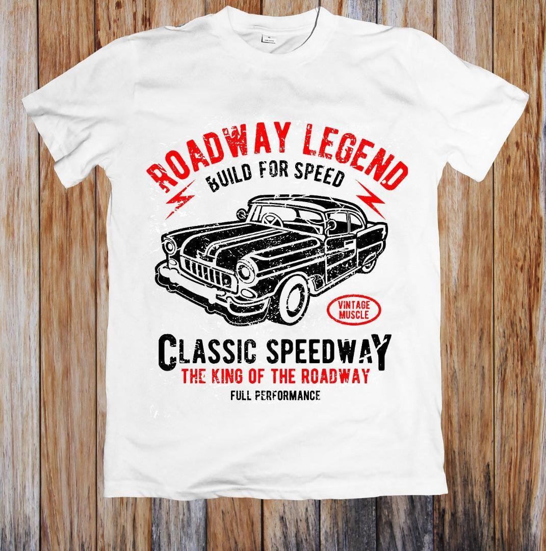 Classic Speedway Unisex T-shirt dos homens t-shirts