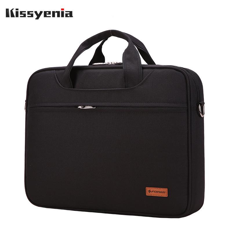 Kissyenia محمول مقاوم للماء حقيبة الرجل حقيبة السفر الأعمال الطيران حقيبة 13 14 بوصة الكمبيوتر المحمول رجال A4 حقيبة KS1252