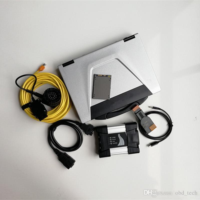 Ferramentas V03.2021 Usado Laptop Computadores Talkbook CF52 I5 8G Computadores + ICOM Próximo para BMW + Novo Soft-Ware 720GB SSD Auto Diagnóstico Ferramenta e Scanner